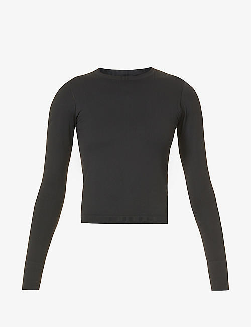 CORDOVA: Ribbed stretch-woven thermal top