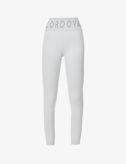 CORDOVA: Ribbed high-rise stretch-woven leggings