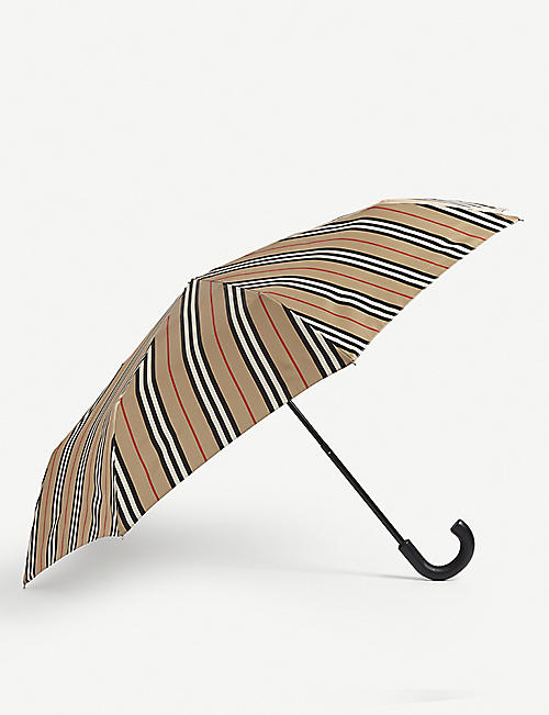 BURBERRY: Check-print cotton umbrella