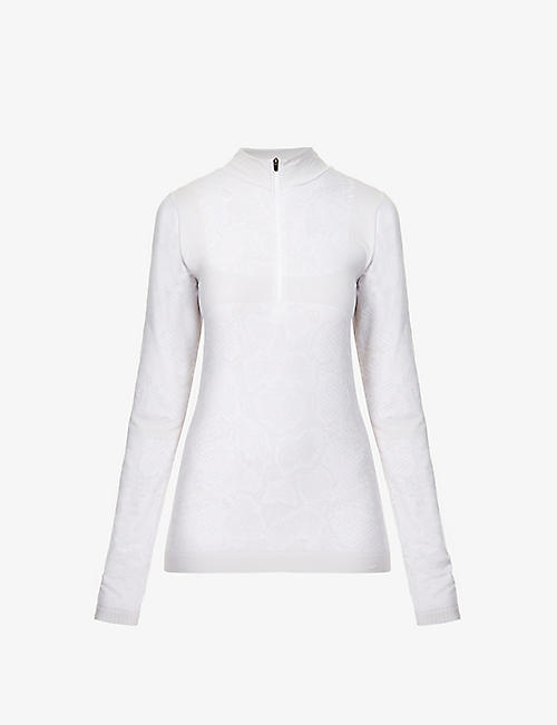 VARLEY: Catalina half-zip stretch-woven thermal top