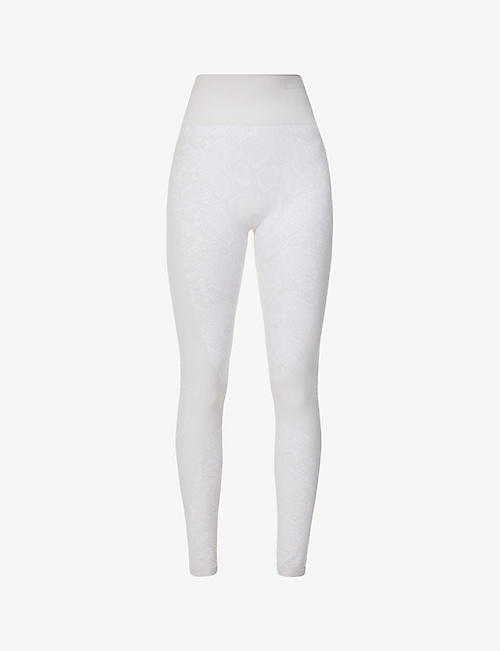 VARLEY: Ardmore snakeskin-print high-rise stretch-woven thermal leggings