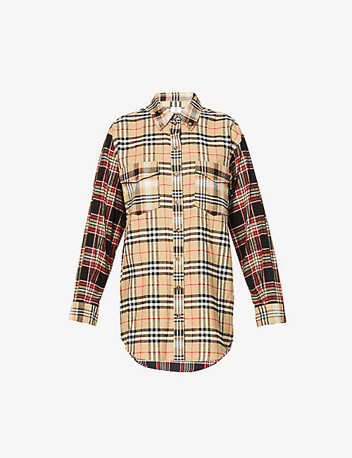 BURBERRY: Turnstone checked cotton shirt