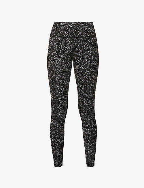 VARLEY: Luna abstract-print high-rise stretch-jersey leggings