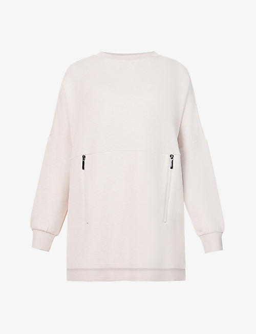 VARLEY: Bayliss marl-pattern stretch-woven sweatshirt