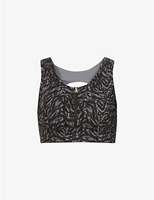 VARLEY: Fay abstract-pattern stretch-woven bra