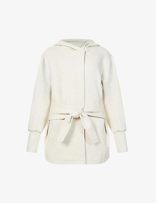 VARLEY: Cove hooded cotton-blend sweatshirt
