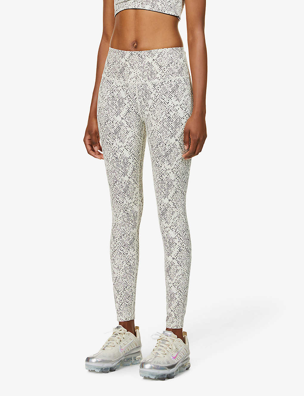VARLEY: Century snakeskin-print high-rise stretch-woven leggings