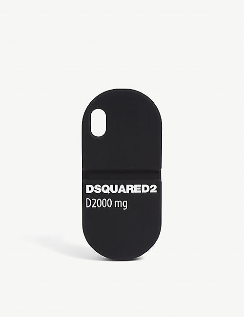 DSQUARED2 ACC: Logo-print silicone iPhone X case