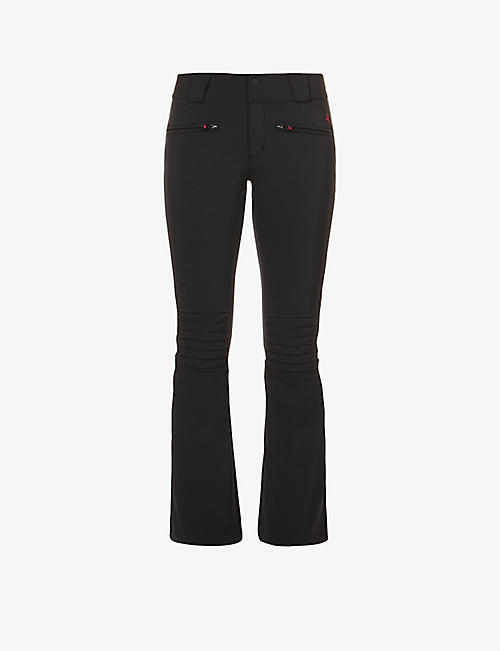 PERFECT MOMENT: Aurora flared high-rise woven ski trousers