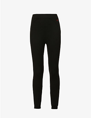 PERFECT MOMENT: Apres mid-rise stretch-knit leggings