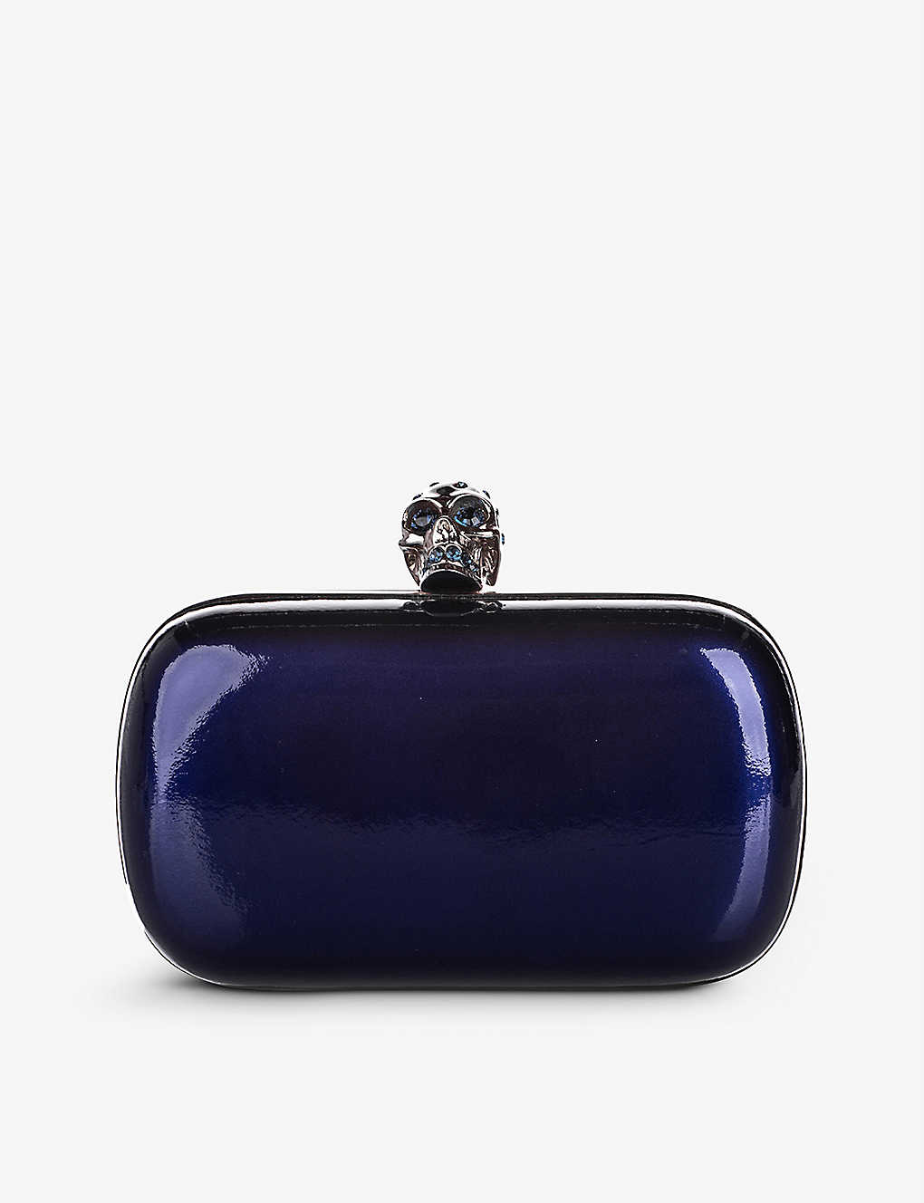 RESELLFRIDGES: Pre-loved Alexander McQueen patent-leather clutch bag