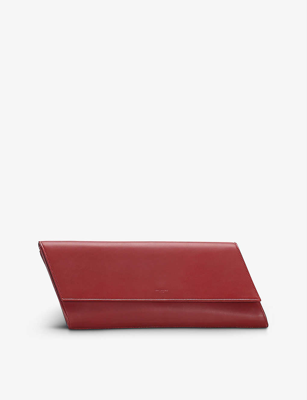 RESELLFRIDGES: Pre-loved Saint Laurent Diagonale leather clutch