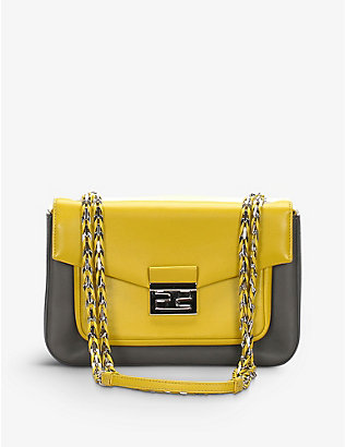 RESELLFRIDGES: Pre-loved Fendi leather baguette shoulder bag
