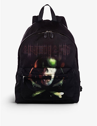 RESELLFRIDGES: Pre-loved Givenchy skull-print nylon backpack