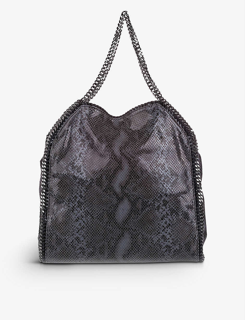 RESELLFRIDGES: Pre-loved Stella McCartney snake-print faux-leather tote bag