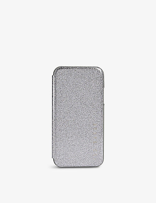 TED BAKER: Rico glitter-embossed iPhone 11 case