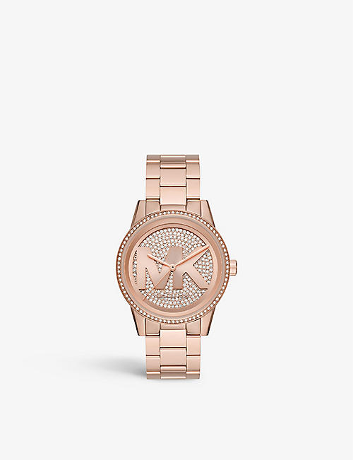 MICHAEL KORS: MK6529 Ritz rose gold-toned stainless steel watch