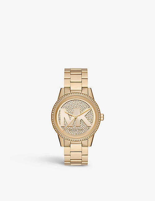 MICHAEL KORS: MK6529 Ritz yellow gold-toned stainless steel watch