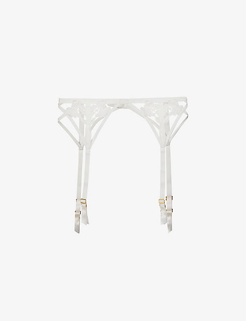 BLUEBELLA: Nova stretch-lace suspender belt