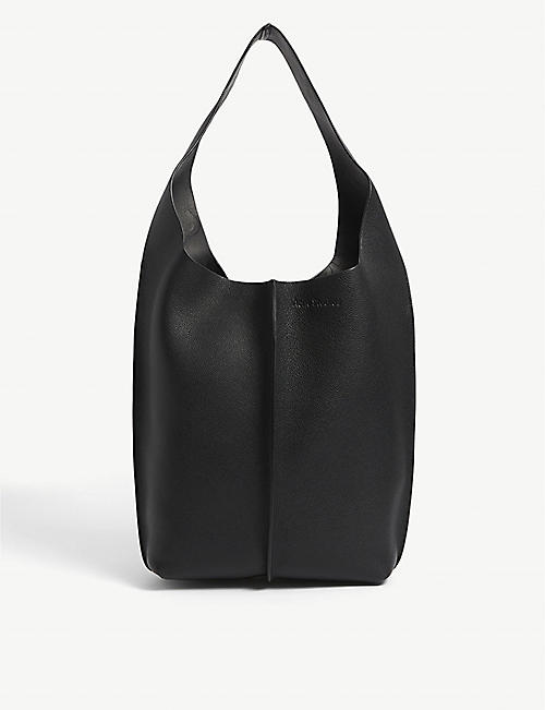 ACNE STUDIOS: Adrienne logo-embossed leather bag