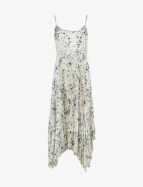 ALLSAINTS: Lerin Yermo recycled polyester-blend midi dress