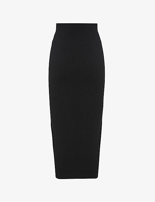 ALLSAINTS: Enya stretch wool-blend midi skirt