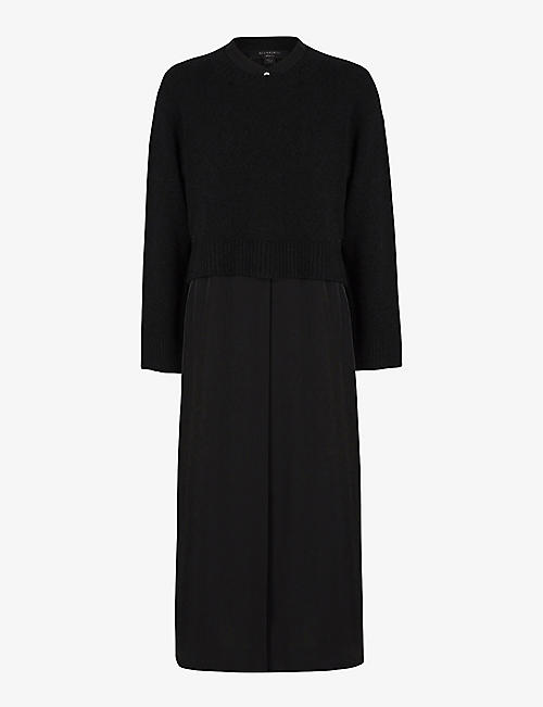 ALLSAINTS: Angelina two-in-one woven maxi dress
