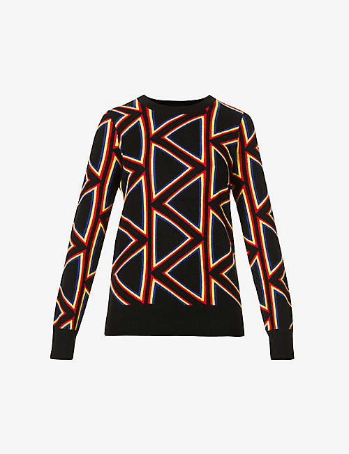 MADELEINE THOMPSON: Beethoven geometric-pattern cashmere jumper
