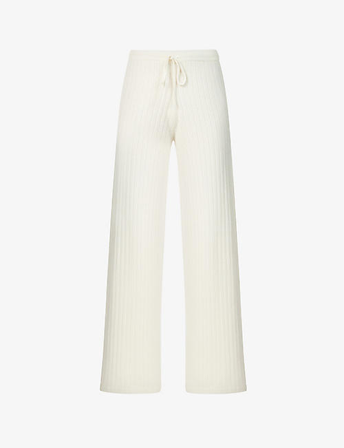 MADELEINE THOMPSON: Temple of Doom wide-leg cashmere trousers