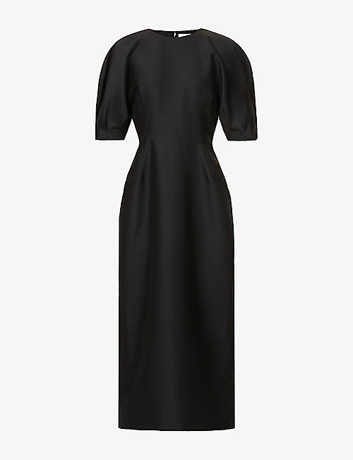 GABRIELA HEARST: Coretta puff-sleeve wool and silk-blend maxi dress
