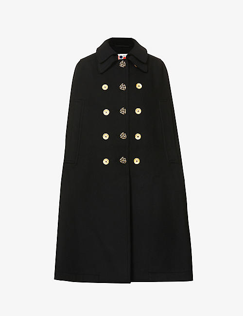 PORTS 1961: Single-breasted sleeveless wool cape