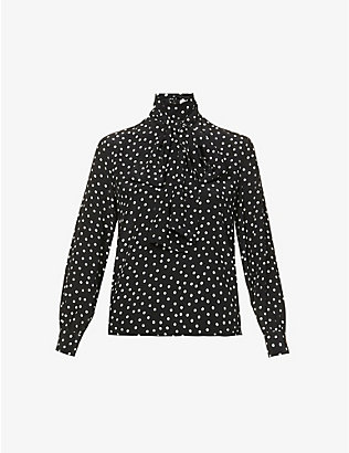 PORTS 1961: Polka-dot silk shirt