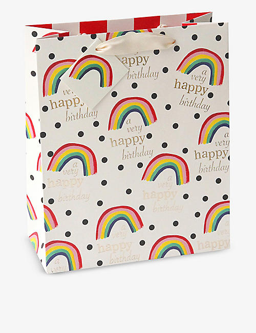 CAROLINE GARDNER: A Very Happy Birthday large gift bag 31cm x 25.4cm