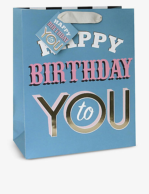 CAROLINE GARDNER: Happy Birthday to You paper gift bag 23cm