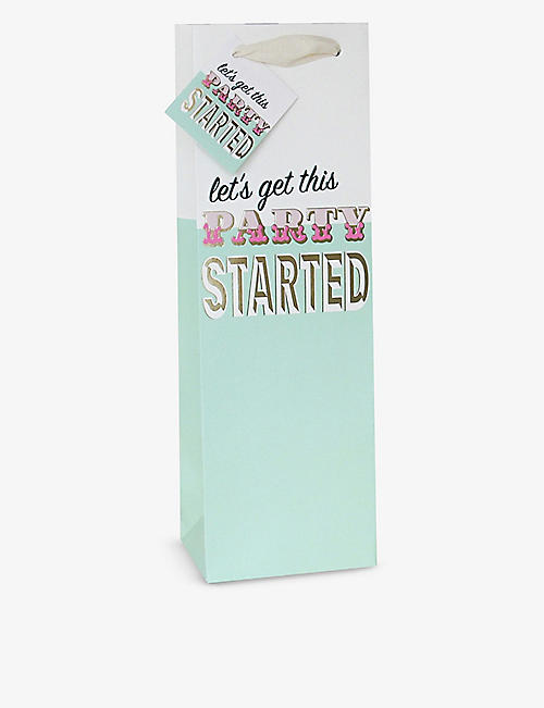 CAROLINE GARDNER: Lets Get This Party Started paper gift bag 37cm