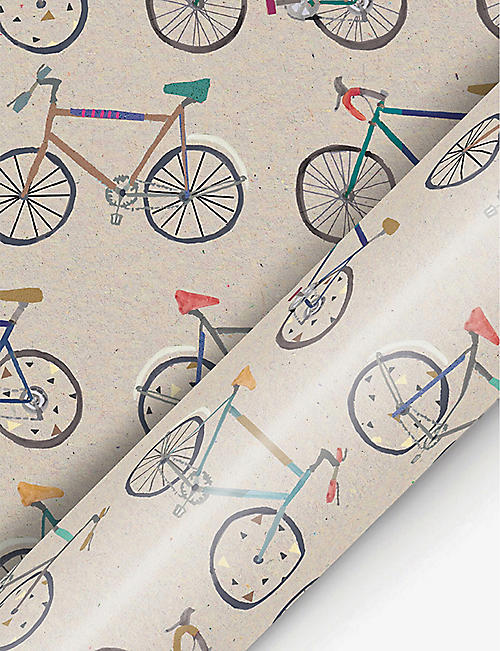 DEVA DESIGNS: Bike-print wrapping paper 3m