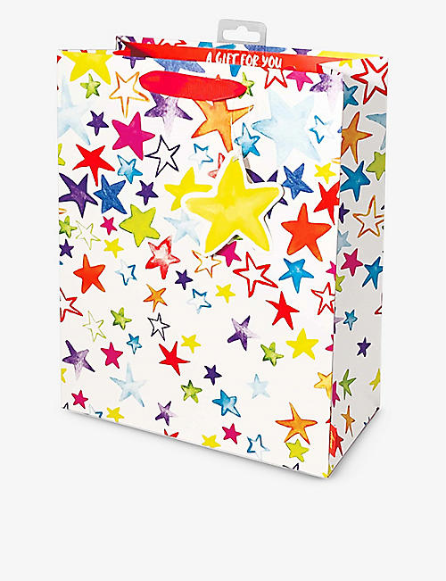 DEVA DESIGNS: Painted Stars large graphic-print gift bag