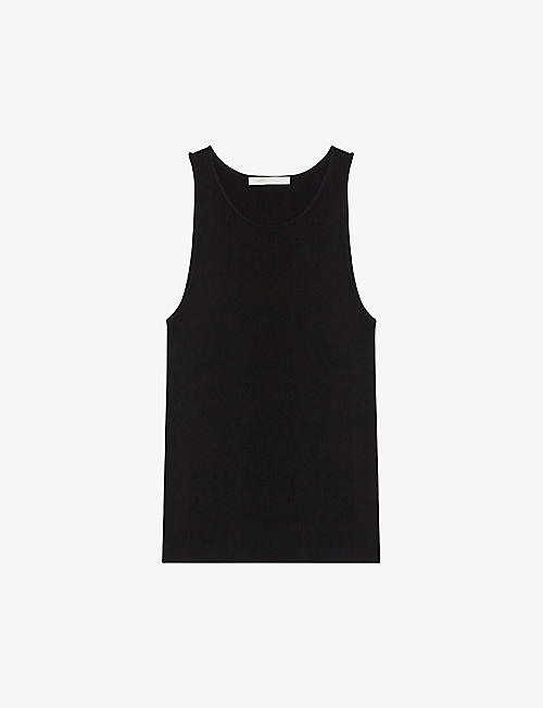 MAJE: Missy tank-top fine-ribbed jumper