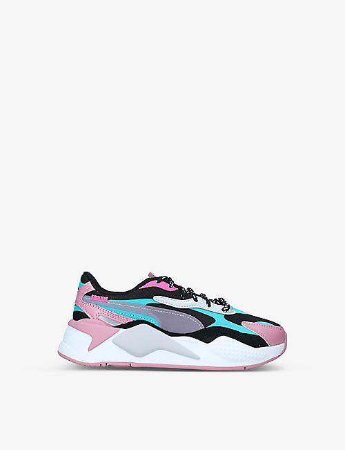 PUMA: RS-X3 City Attack textile and faux-leather trainers 9-10 years