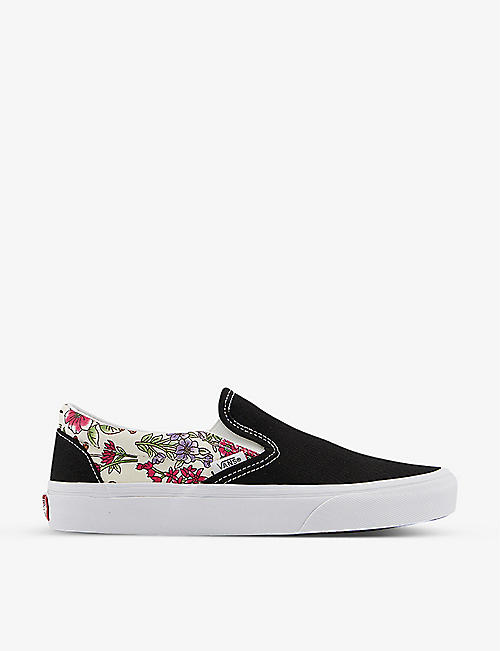 VANS: Classic contrast-panel canvas slip-on trainers