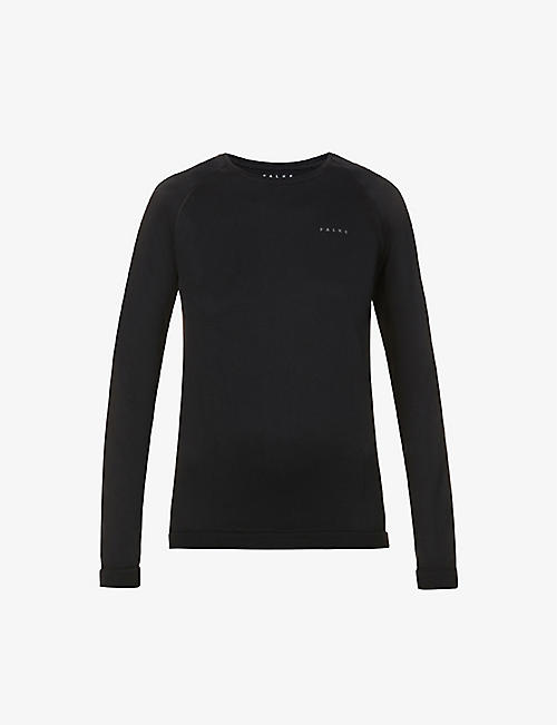 FALKE ERGONOMIC SPORT SYSTEM: Arctic scoop-neck stretch-woven top