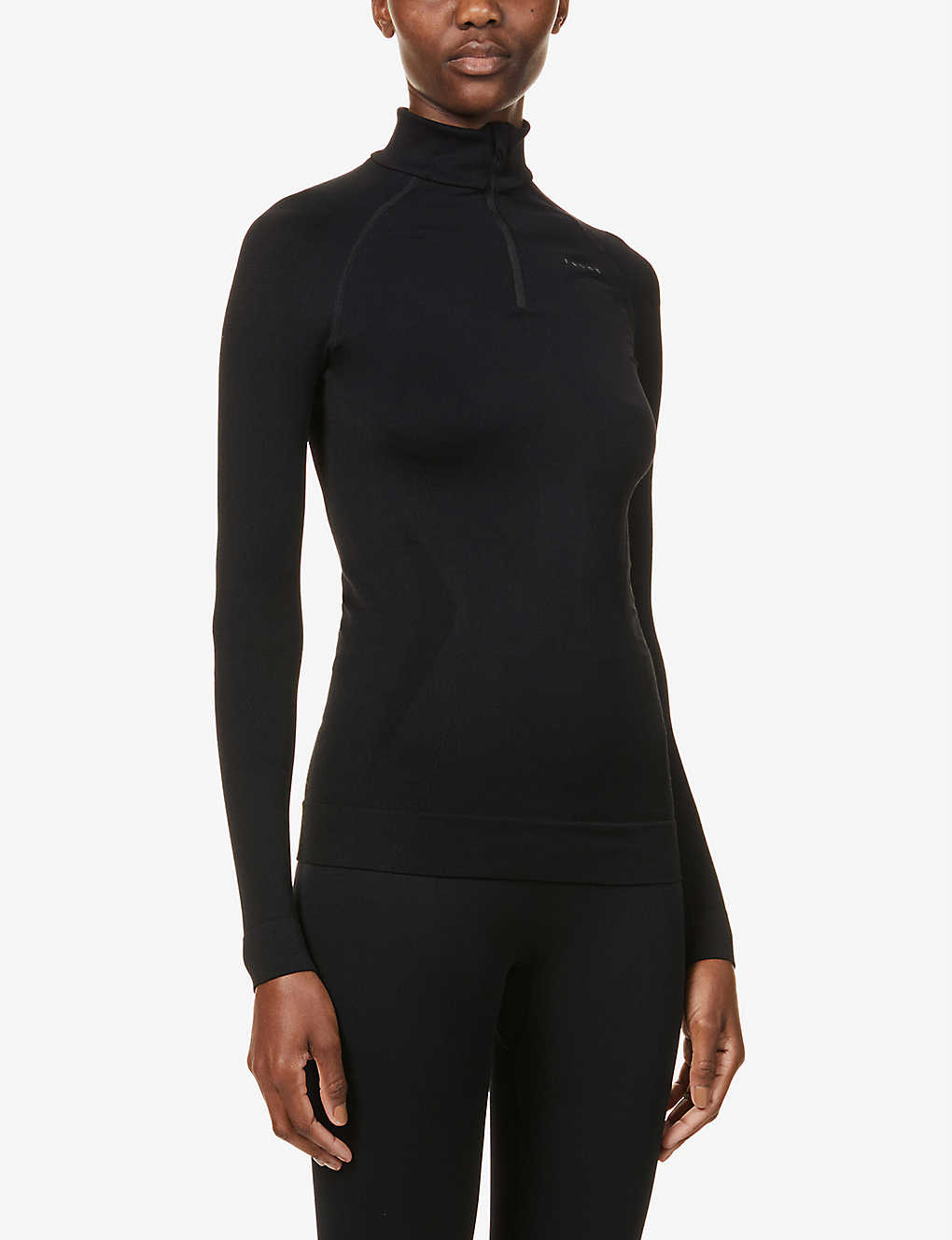 FALKE ERGONOMIC SPORT SYSTEM: Maximum Warm high-neck stretch-jersey top