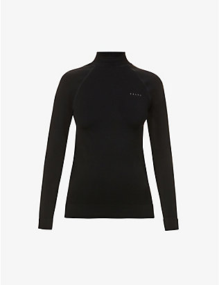 FALKE ERGONOMIC SPORT SYSTEM: Maximum Warm turtleneck stretch-woven top
