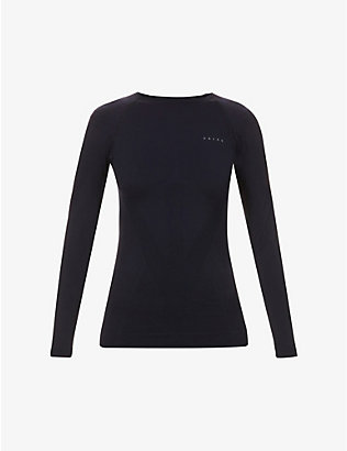 FALKE ERGONOMIC SPORT SYSTEM: Warm scoop-neck stretch-woven top