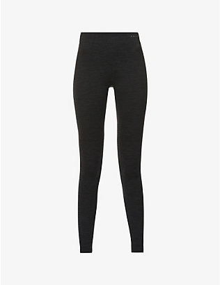 FALKE ERGONOMIC SPORT SYSTEM: Wool-Tech high-rise wool-blend leggings
