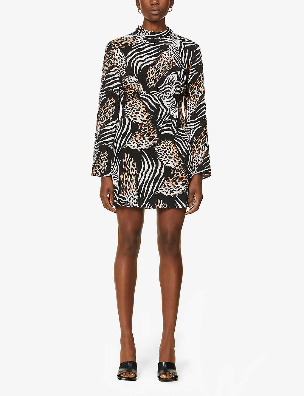 RIXO: Cassidy animal-print woven mini dress