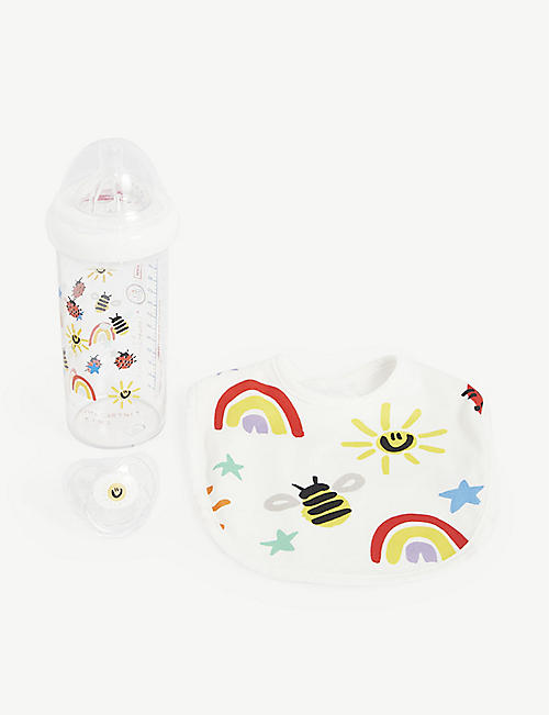 STELLA MCCARTNEY: Rainbow cotton bib set