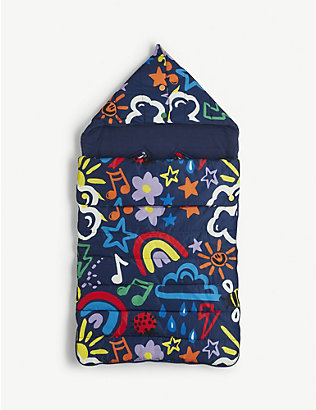 STELLA MCCARTNEY: Graphic-print recycled-woven sleeping bag