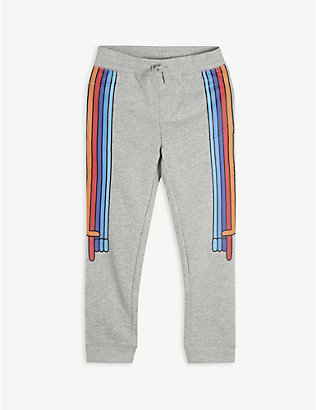 STELLA MCCARTNEY: Rainbow stripe cotton-jersey jogging bottoms 4-10 years