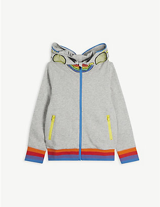 STELLA MCCARTNEY: Rainbow graphic-print cotton-jersey hoody 4-14 years